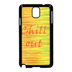 Chill out Samsung Galaxy Note 3 Neo Hardshell Case (Black) Front