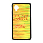 Chill out Nexus 5 Case (Black) Front