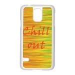 Chill out Samsung Galaxy S5 Case (White) Front