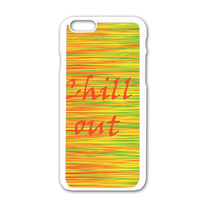 Chill out Apple iPhone 6/6S White Enamel Case