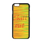 Chill out Apple iPhone 6/6S Black Enamel Case Front