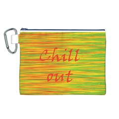 Chill out Canvas Cosmetic Bag (L)