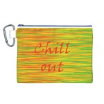 Chill out Canvas Cosmetic Bag (L) Front