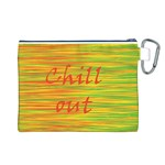 Chill out Canvas Cosmetic Bag (L) Back
