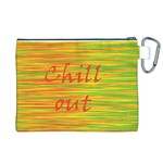 Chill out Canvas Cosmetic Bag (XL) Back