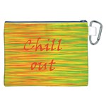 Chill out Canvas Cosmetic Bag (XXL) Back