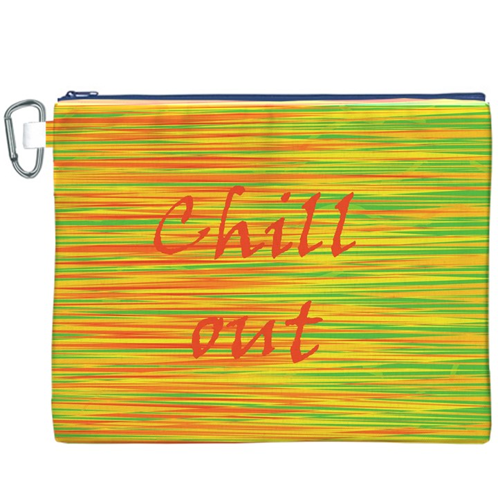 Chill out Canvas Cosmetic Bag (XXXL)