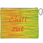 Chill out Canvas Cosmetic Bag (XXXL) Back