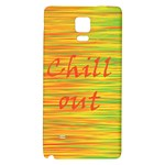 Chill out Galaxy Note 4 Back Case Front