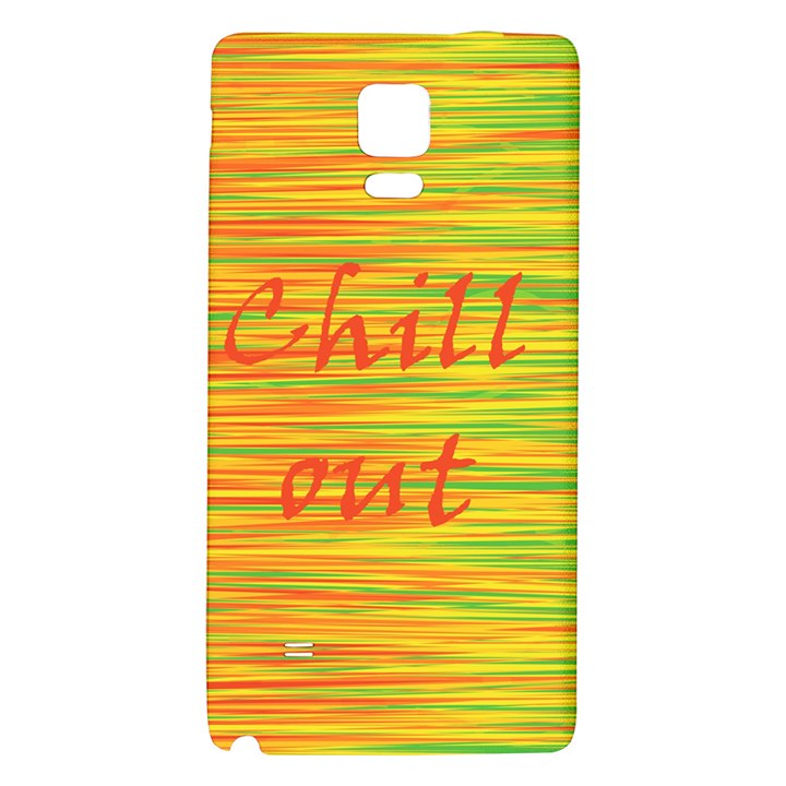 Chill out Galaxy Note 4 Back Case
