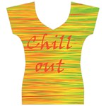 Chill out Women s V-Neck Cap Sleeve Top Front