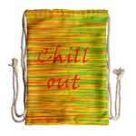 Chill out Drawstring Bag (Large) Back