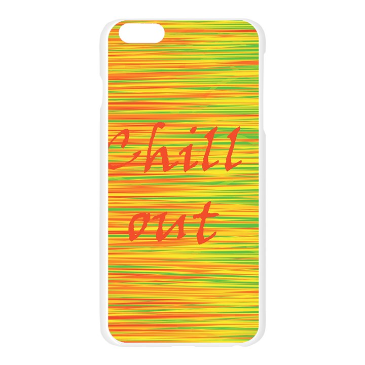 Chill out Apple Seamless iPhone 6 Plus/6S Plus Case (Transparent)