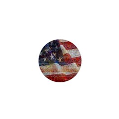 Grunge United State Of Art Flag 1  Mini Buttons