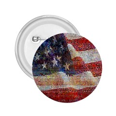 Grunge United State Of Art Flag 2.25  Buttons