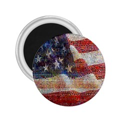 Grunge United State Of Art Flag 2.25  Magnets