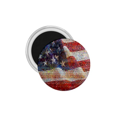 Grunge United State Of Art Flag 1.75  Magnets