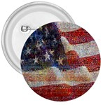 Grunge United State Of Art Flag 3  Buttons Front