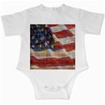 Grunge United State Of Art Flag Infant Creepers Front