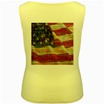 Grunge United State Of Art Flag Women s Yellow Tank Top Back