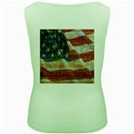 Grunge United State Of Art Flag Women s Green Tank Top Back