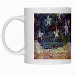Grunge United State Of Art Flag White Mugs Left