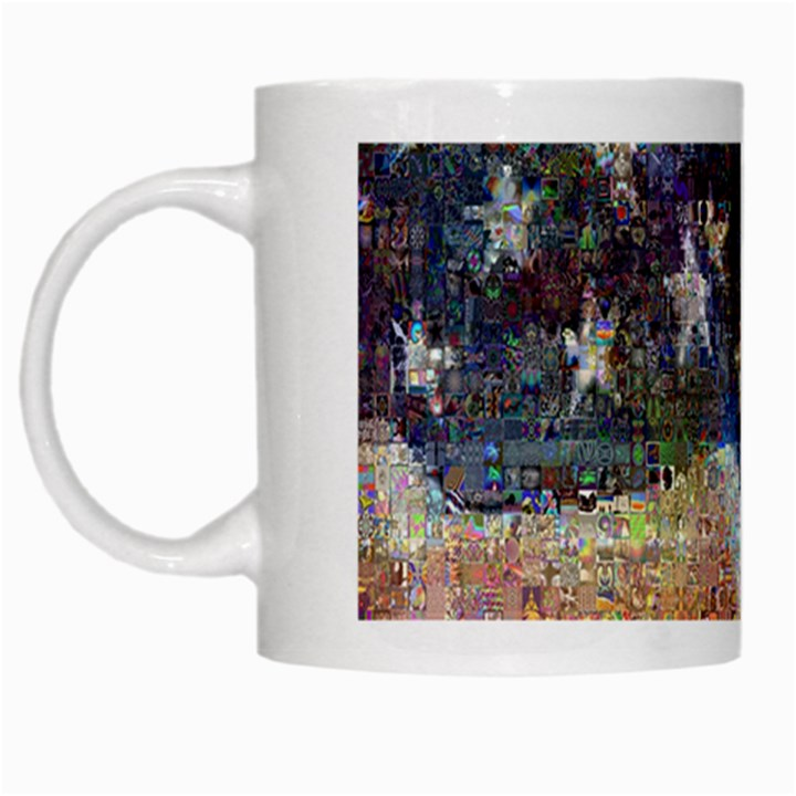 Grunge United State Of Art Flag White Mugs