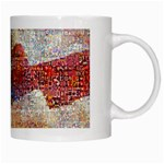 Grunge United State Of Art Flag White Mugs Right
