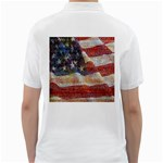 Grunge United State Of Art Flag Golf Shirts Back