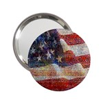 Grunge United State Of Art Flag 2.25  Handbag Mirrors Front