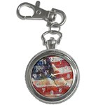 Grunge United State Of Art Flag Key Chain Watches Front