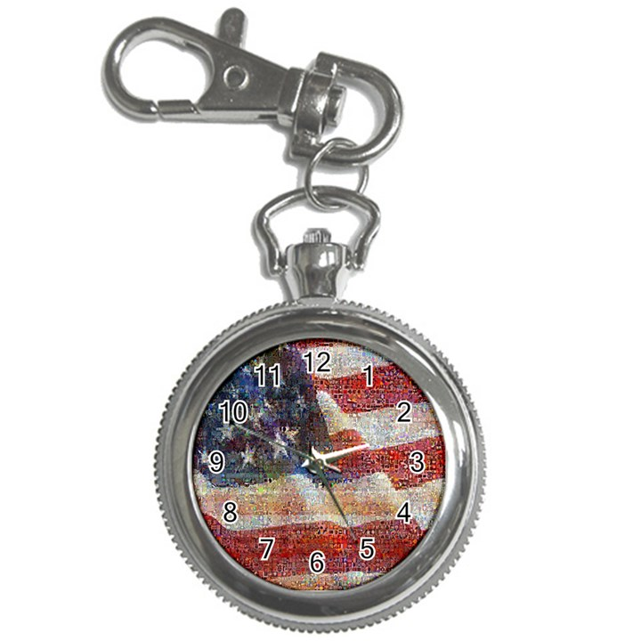 Grunge United State Of Art Flag Key Chain Watches