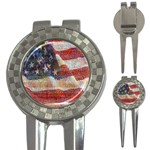 Grunge United State Of Art Flag 3-in-1 Golf Divots Front