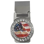 Grunge United State Of Art Flag Money Clips (CZ)  Front