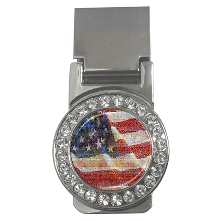 Grunge United State Of Art Flag Money Clips (CZ)
