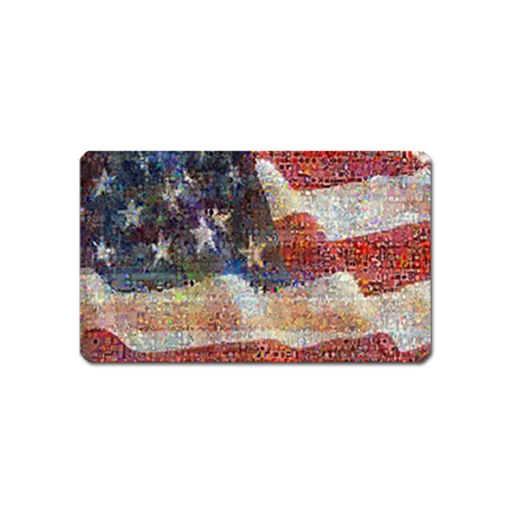 Grunge United State Of Art Flag Magnet (Name Card)