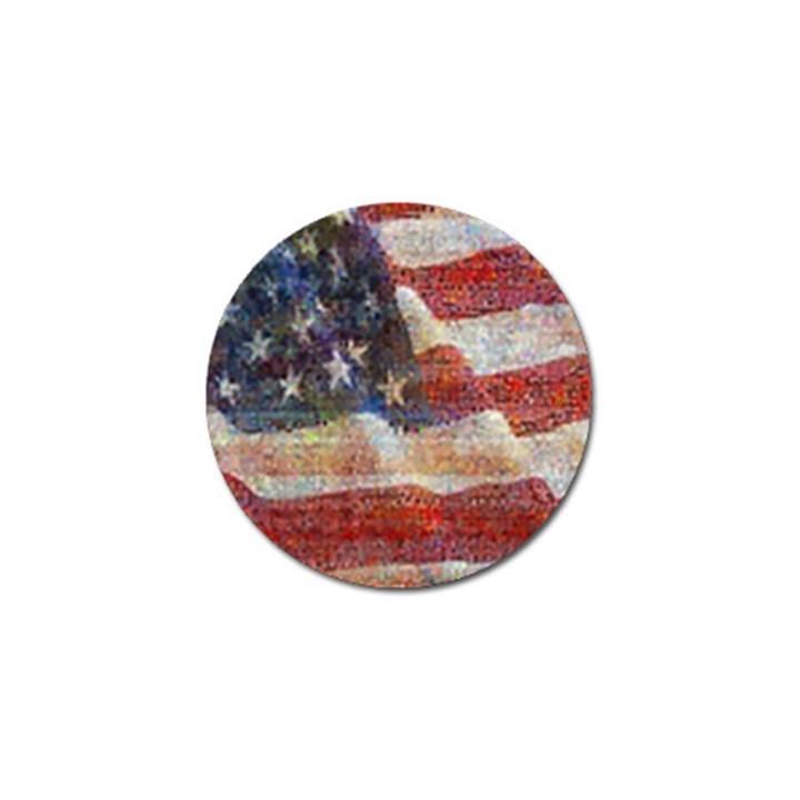 Grunge United State Of Art Flag Golf Ball Marker (10 pack)