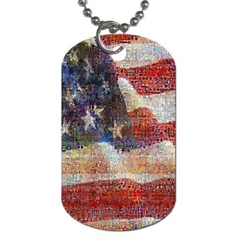 Grunge United State Of Art Flag Dog Tag (Two Sides)