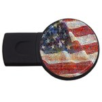 Grunge United State Of Art Flag USB Flash Drive Round (2 GB)  Front