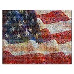Grunge United State Of Art Flag Rectangular Jigsaw Puzzl Front
