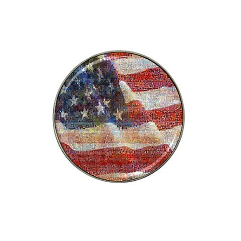 Grunge United State Of Art Flag Hat Clip Ball Marker