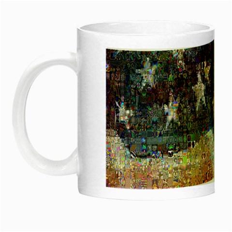 Grunge United State Of Art Flag Night Luminous Mugs