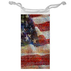 Grunge United State Of Art Flag Jewelry Bags