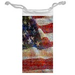 Grunge United State Of Art Flag Jewelry Bags Back