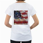 Grunge United State Of Art Flag Women s Loose-Fit T-Shirt (White) Back