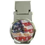 Grunge United State Of Art Flag Money Clip Watches Front