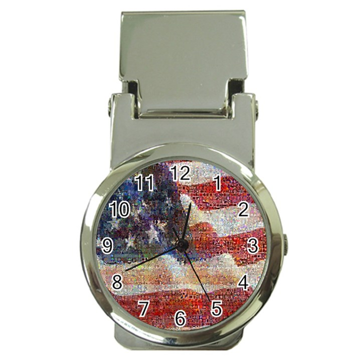 Grunge United State Of Art Flag Money Clip Watches