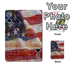 Grunge United State Of Art Flag Playing Cards 54 Designs