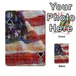 Grunge United State Of Art Flag Playing Cards 54 Designs  Front - Spade3