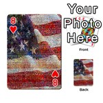 Grunge United State Of Art Flag Playing Cards 54 Designs  Front - Heart8